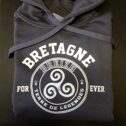 Sweat bleu Bretagne for ever