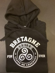 Sweat noir Bretagne for ever