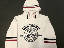 Sweat blanc rayures Bretagne for ever