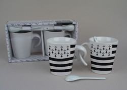 COUPLE MUGS DRAPEAU BRETON